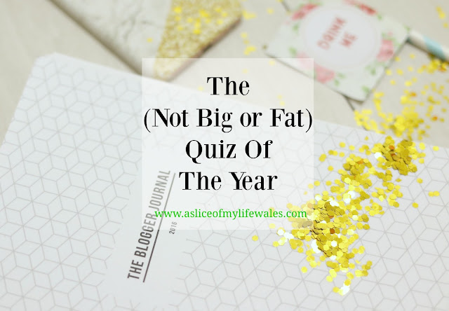 the not big or fat quiz of the year-blog tag quiz reflecting on the year 2016.