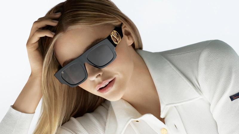 Actress Chloe Grace Moretz stars in Louis Vuitton sunglasses 2021 campaign.