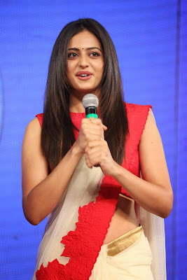 Rakul Preet Singh Photos in Red Saree at Beeruva Audio Launch