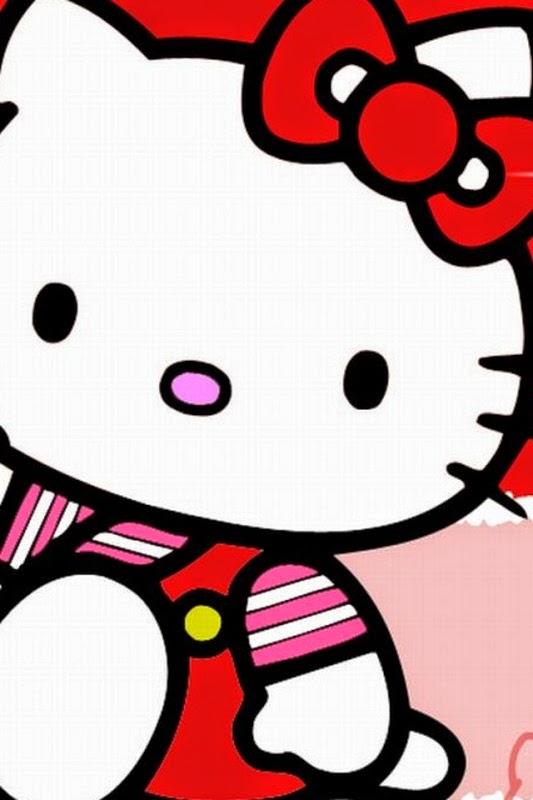 Wallpaper lucu hello kitty merah untuk Hp android download gratis