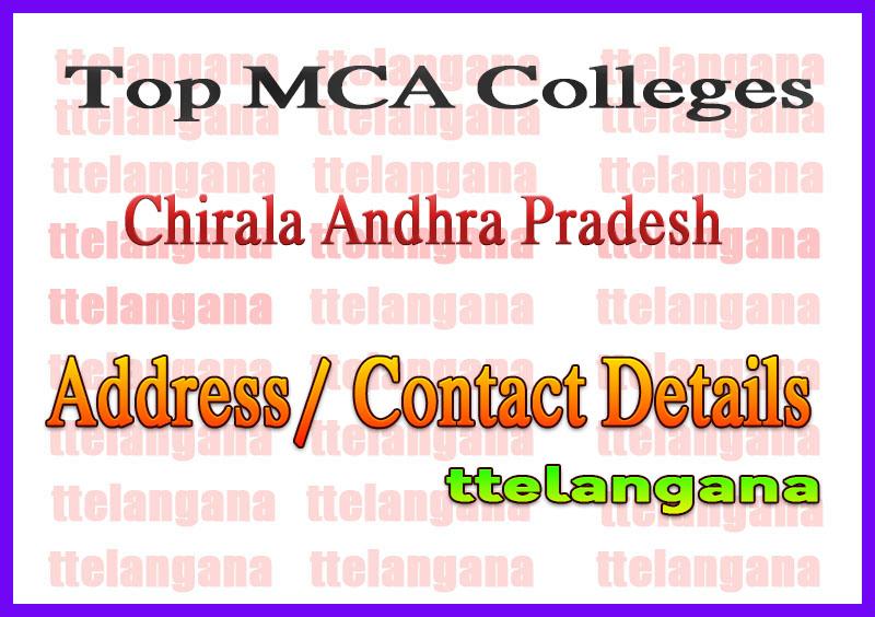 Top MCA Colleges in Chirala Andhra Pradesh