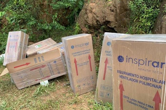Carga de respiradores avaliada em mais de meio milhão é recuperada em SP uma semana após roubo
