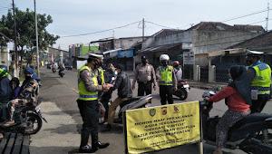 Tak Bermasker, Para Pengendara Dihentikan Polisi Majalaya Polresta Bandung
