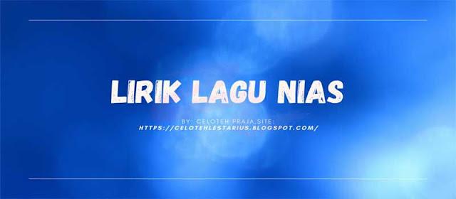 Lirik Lagu Nias Yas Zalukhu - Angawuli, No Ara Era Era Nakhi