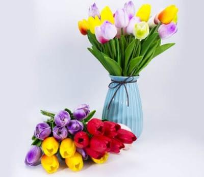 Bunga Plastik / Bunga Artificial Tulip (Seri PU)