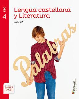 Libro Lengua y Literatura 4º ESO Santillana Proyecto Saber Hacer Serie Avanza