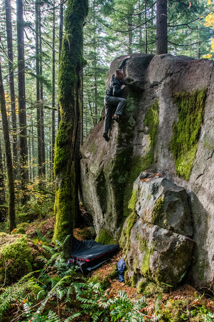 Deep Forest Bouldering: Projects Day