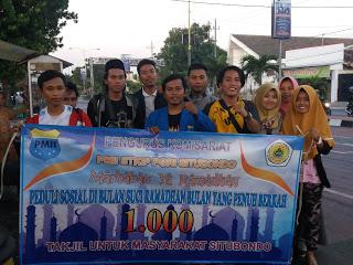 PK PMII STKIP PGRI Situbondo Berbagi 1000 Takjil Untuk Masyarakat