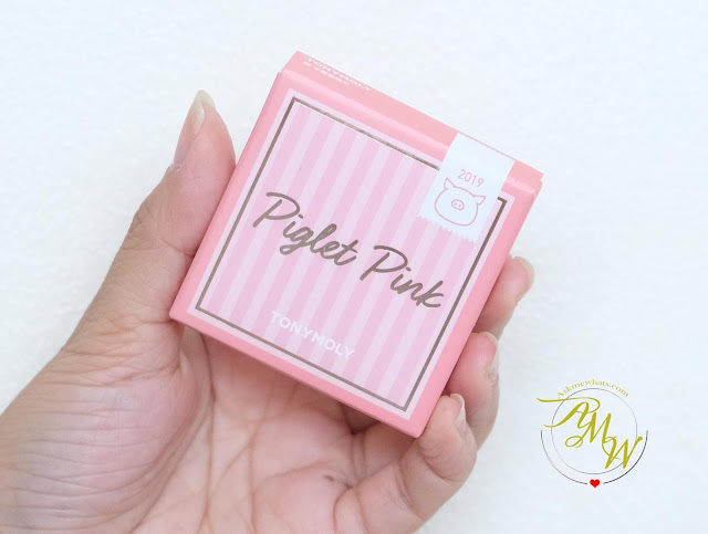 a photo of Tony Moly Piglet Pink Blusher 02 Review by Nikki Tiu of askmewhats.com
