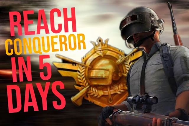 How to rank up fast in PUBG Mobile: reach Conqueror in 5 days