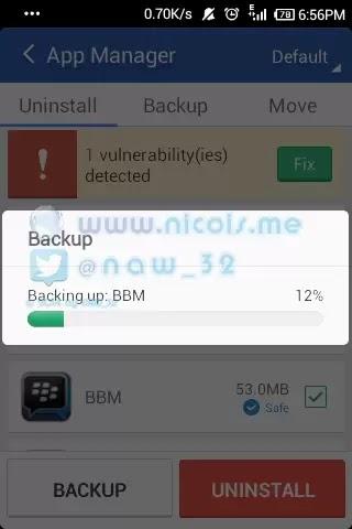 menyimpan mentahan file apk dengan app clean master