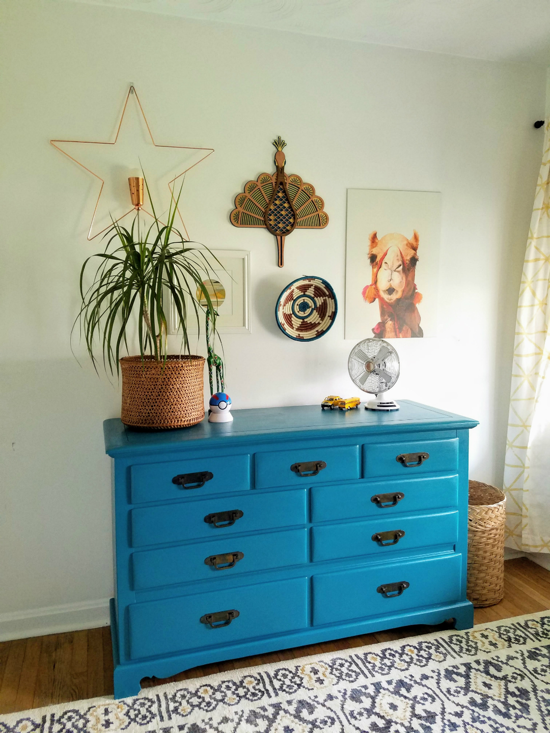 Pin This Ideas! Easy Projects For Big Impact Design - Paint A Bright Teal Dresser TheBohoAbode Project
