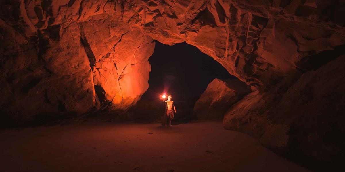 Iluminación de las cuevas del Paleolítico
