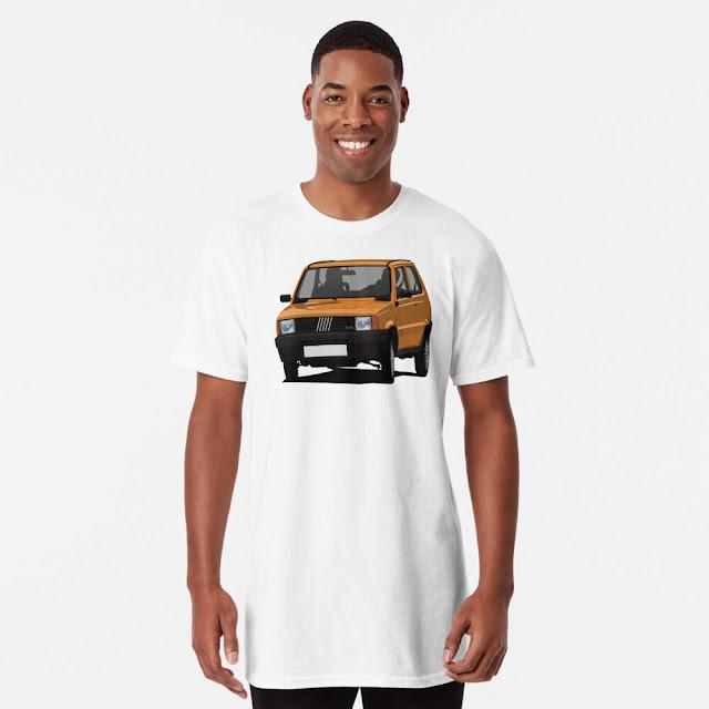 Orange Fiat Panda Mk1 t-shirt