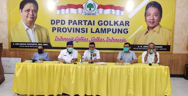 Gelar Konferensi Pers, Partai Golkar Resmi Usung TEC Maju Pilkada Lampung Selatan