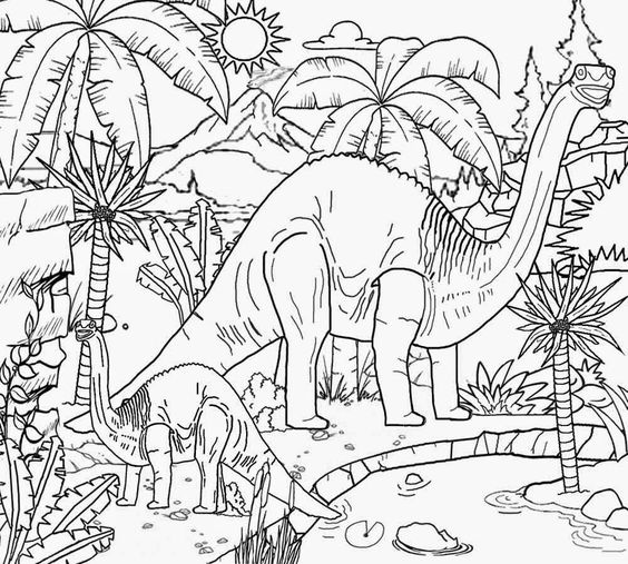 Dinosaurs coloring pages 14