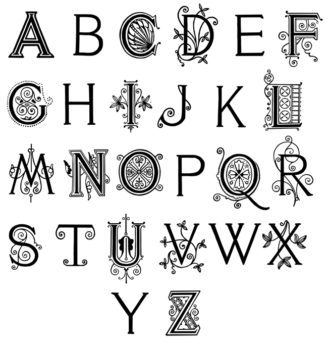 Fancy Alphabet Letters S