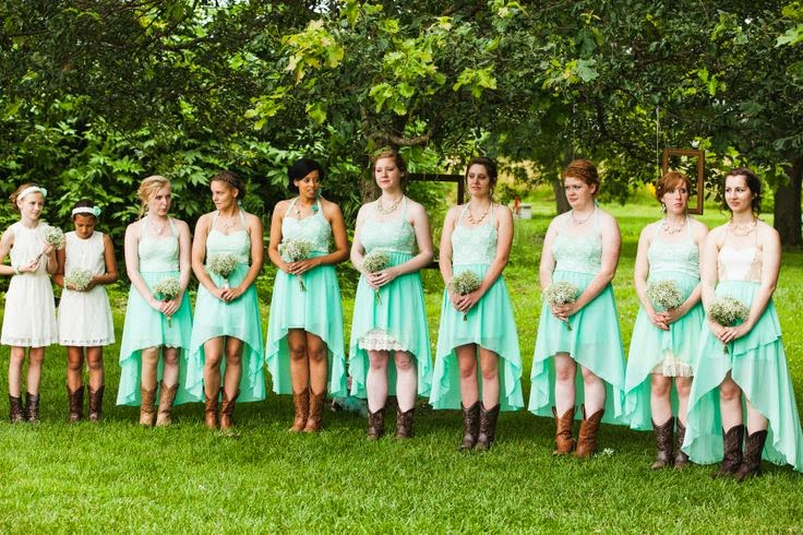 High Low Bridesmaid Dresses For Farm Wedding