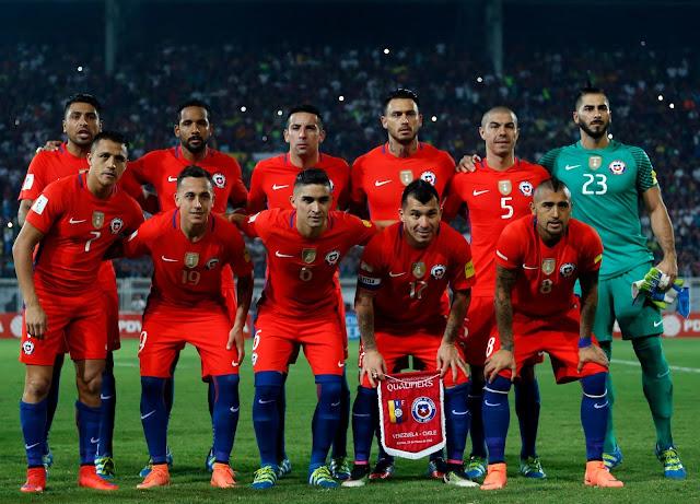 Formación de Chile ante Venezuela, Clasificatorias Rusia 2018, 29 de marzo de 2016