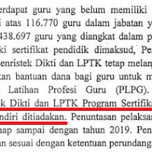 Biaya Program Sertifikasi Guru Pendidikan Profesi Guru (SG-PPG) Ditiadakan