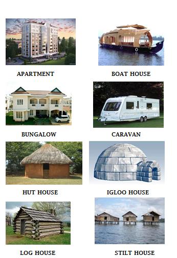 kidzworksheets: Grade2 - Types Of Houses