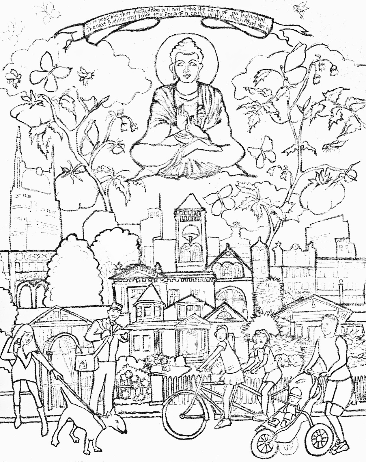 coloring pages buddah - photo#13