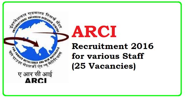 ARCI Recruitment 2016 various Staff (25 Vacancies)/2016/07/arci-recruitment-2016-various-staff-25-vacancies_1.html
