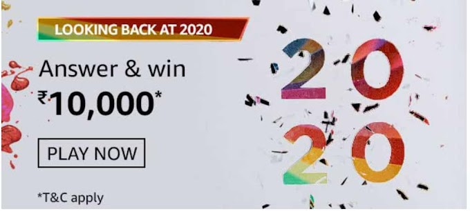 Amazon Looking Back At 2020 Quiz Answers