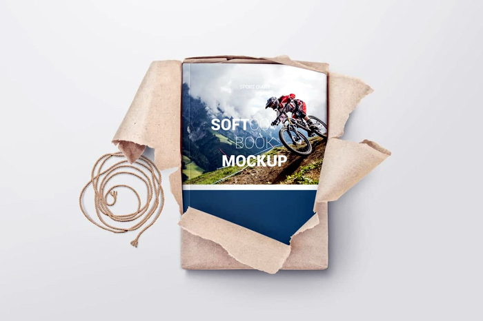 Free Download Soft Cover Book Mockup 4