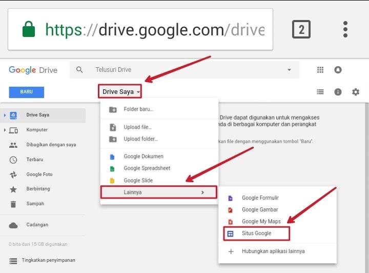 Cara Membuat Google Sites Dengan Smartphone Android