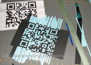 QR code paper birthday card
