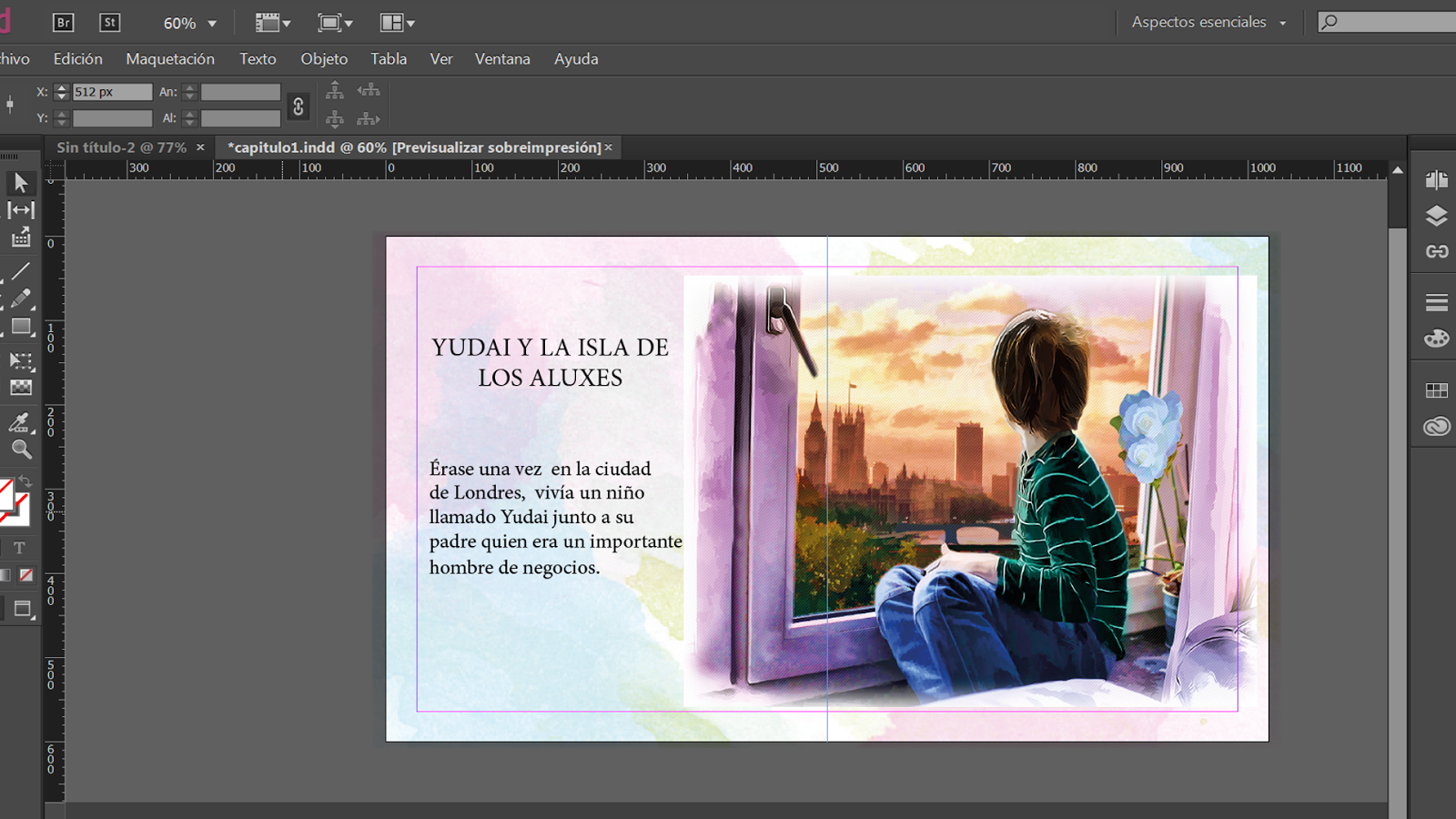 Libro Indesign Maquetación De Libro Infantil Para Kindle Con Indesign Y