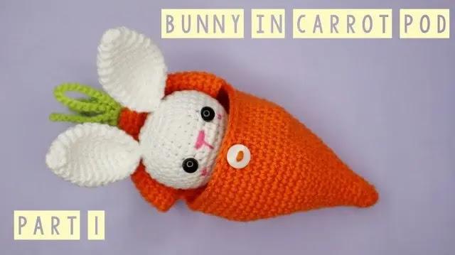 Aprende a Tejer Conejo en Zanahoria a Crochet