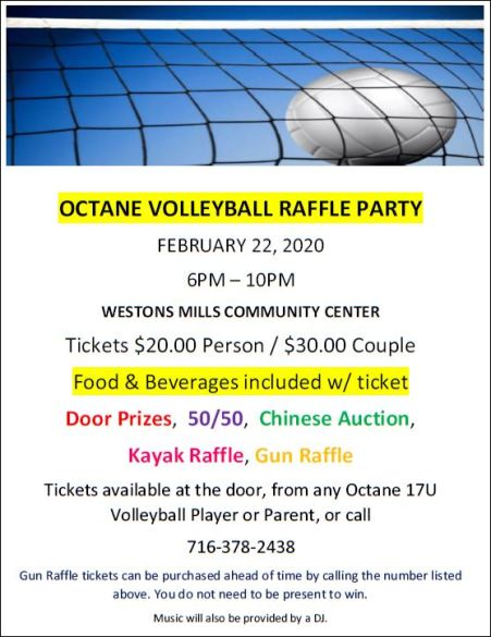 2-22 Octane Volleyball Raffle Party