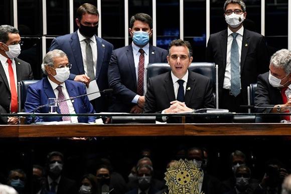 O novo presidente do Senado, Rodrigo Pacheco – Foto: Jefferson Rudy/Agência Senado