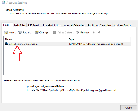 open email settings