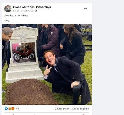 postingan motor sulfikar dihapus Mark Zuckerberg