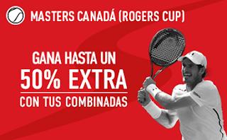 sportium promocion 50 euros Masters Canadá: Extra en Combinadas 25-31 julio