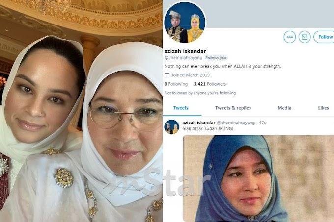 Tunku Azizah aktifkan Twitter selepas dikejut Puteri Afzan