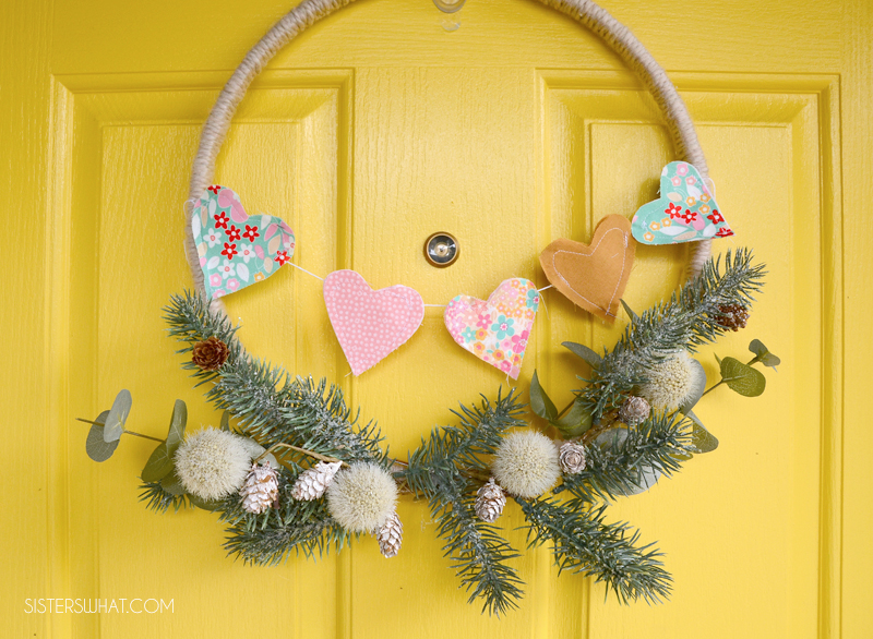 fabric heart garland tutorial