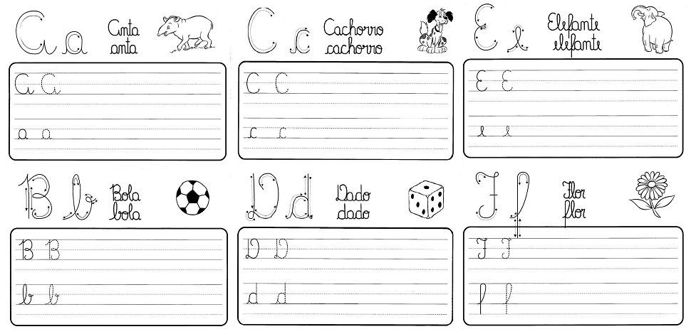 Pap Como Fazer Atividade De Caligrafia Letras Do Alfabeto Ilustrado