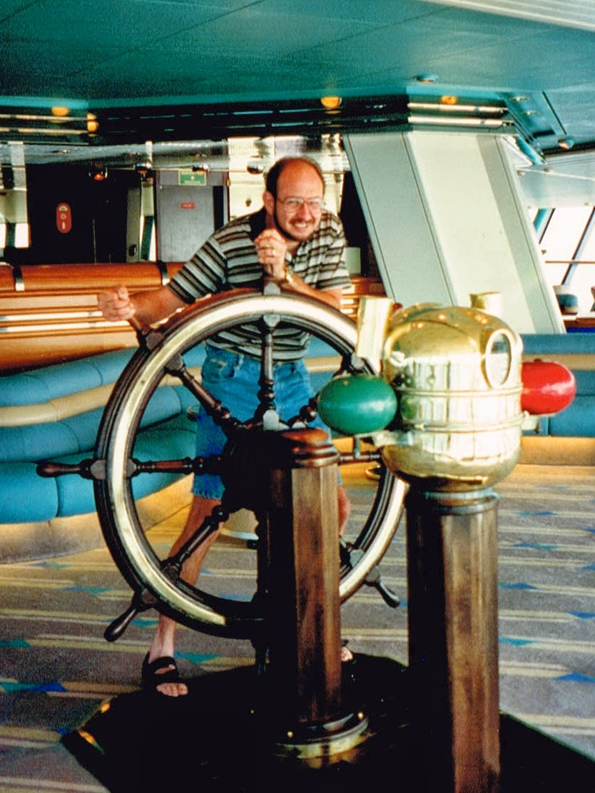 Ron with wheel 1996