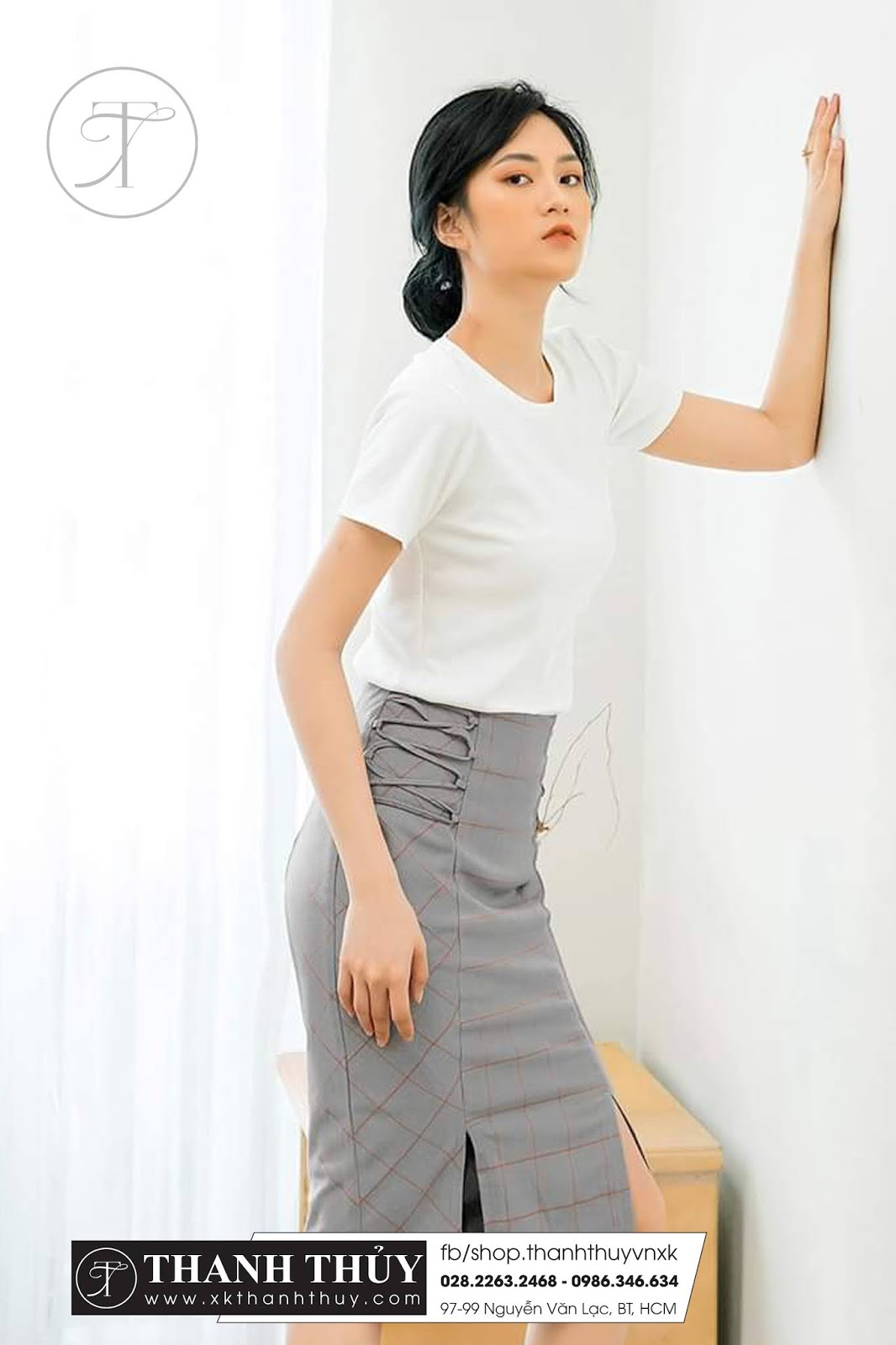 Chân váy nữ công sở co giãn thời trang