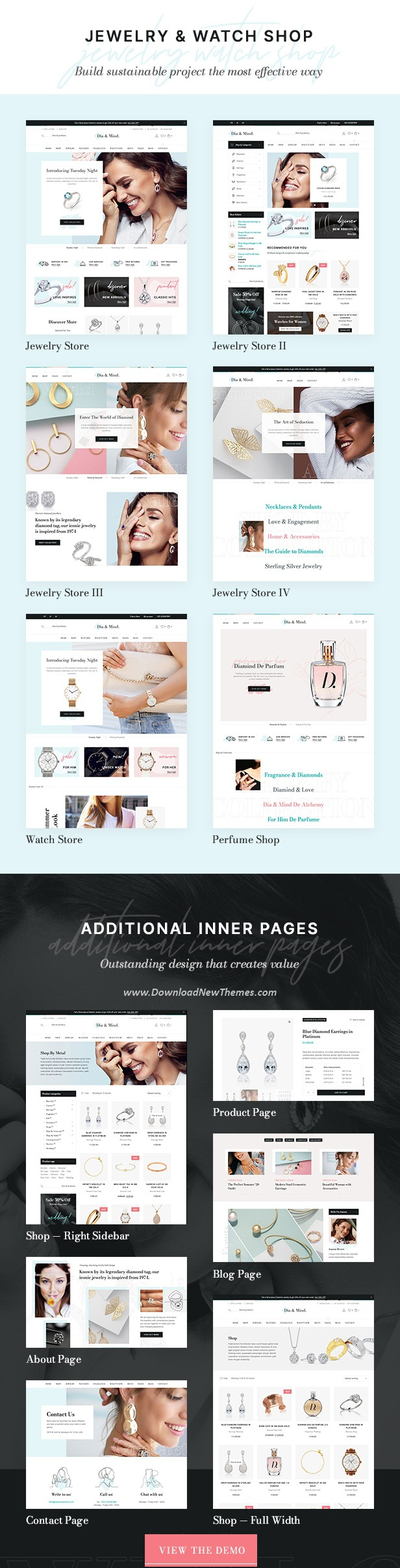 Jewelry & Watch Store WooCommerce WordPress Theme