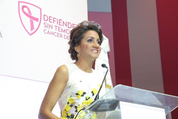 Primera Dama llama dominicanas a estar alertas Para prevenir y derrotar el cáncer