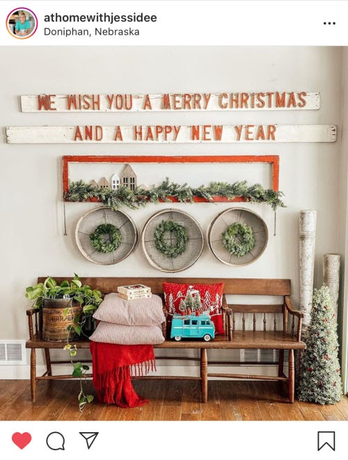 instagram inspiration photo of Christmas decor from @athomewithjessidee
