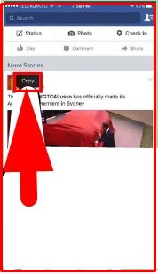 how to copy and paste on facebook mobile app