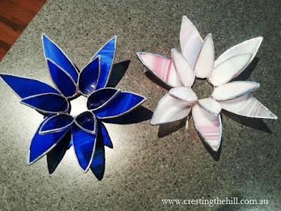 stained glass flowers - www.crestingthehill.com.au