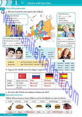 9. Sınıf Almanca A1.1 Ders Kitabı Cevapları Sayfa 16