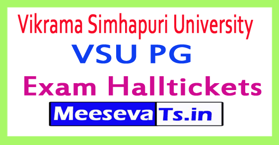 Vikrama Simhapuri University VSU PG Exam Hall Tickets 2017